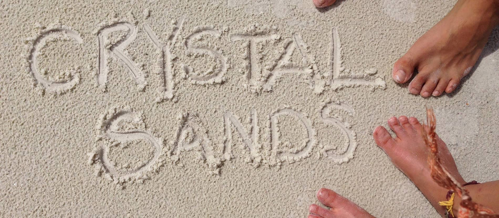 crystal sands written in the sand