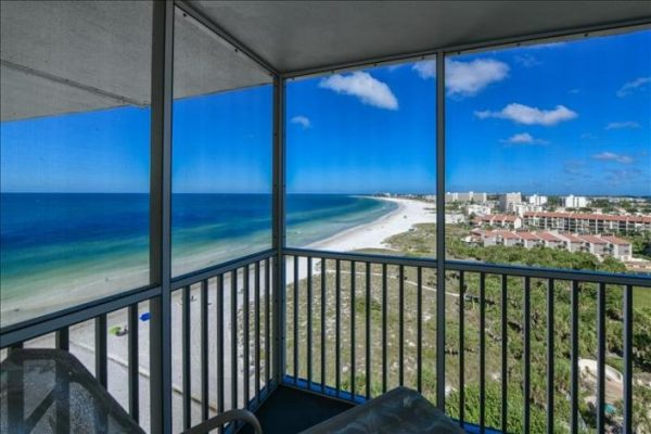 beach view from a condo