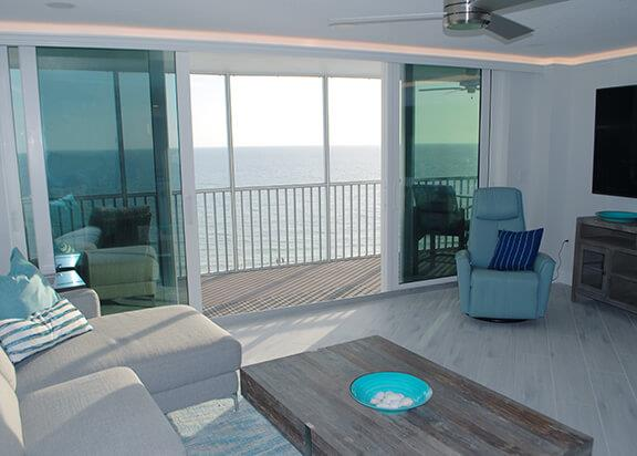 Vacation rental in Siesta Key with unboustructed views of the Gulf