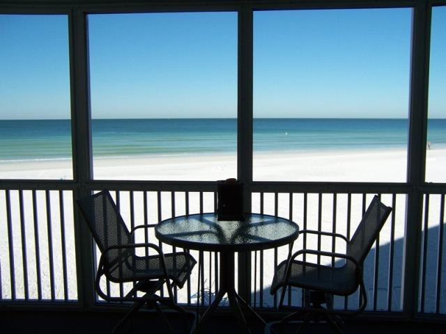 Balcony view condo rental Siesta Key