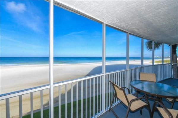 Oceanfront view from condo rental in Siesta Key