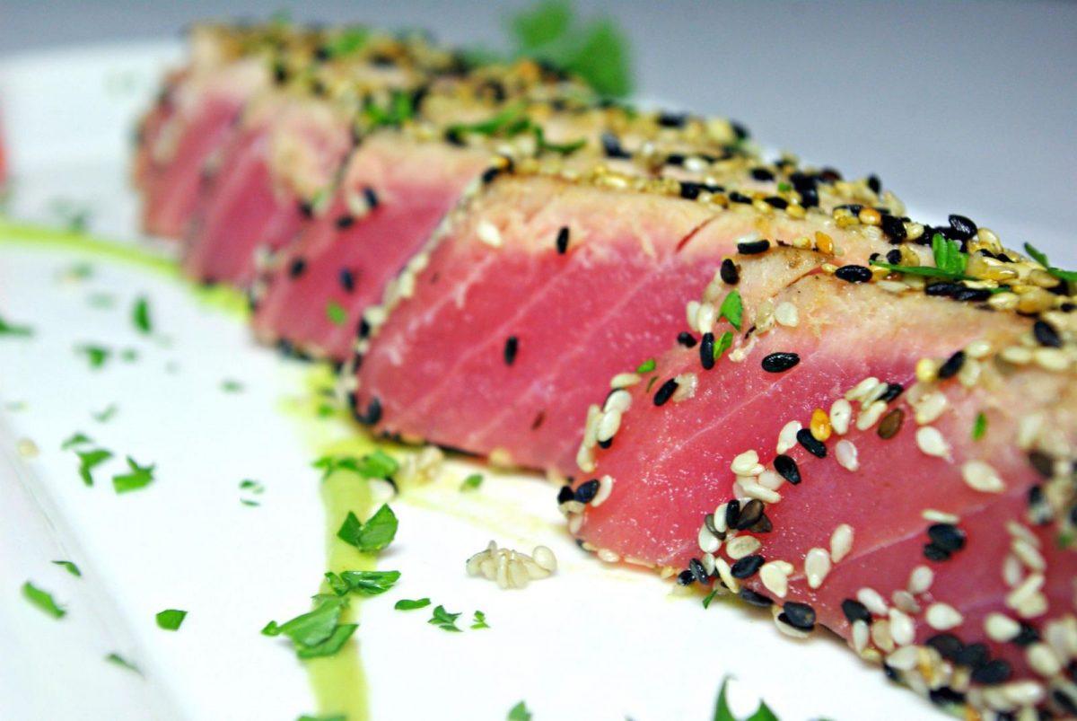 Ahi tuna appetizer at Turtle Beach Grill