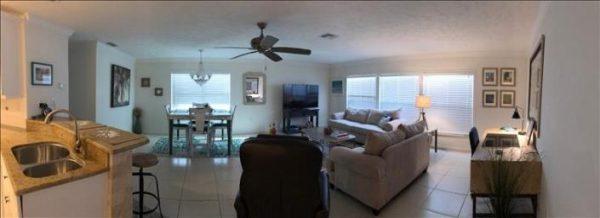 living area of villa 11 in siesta key