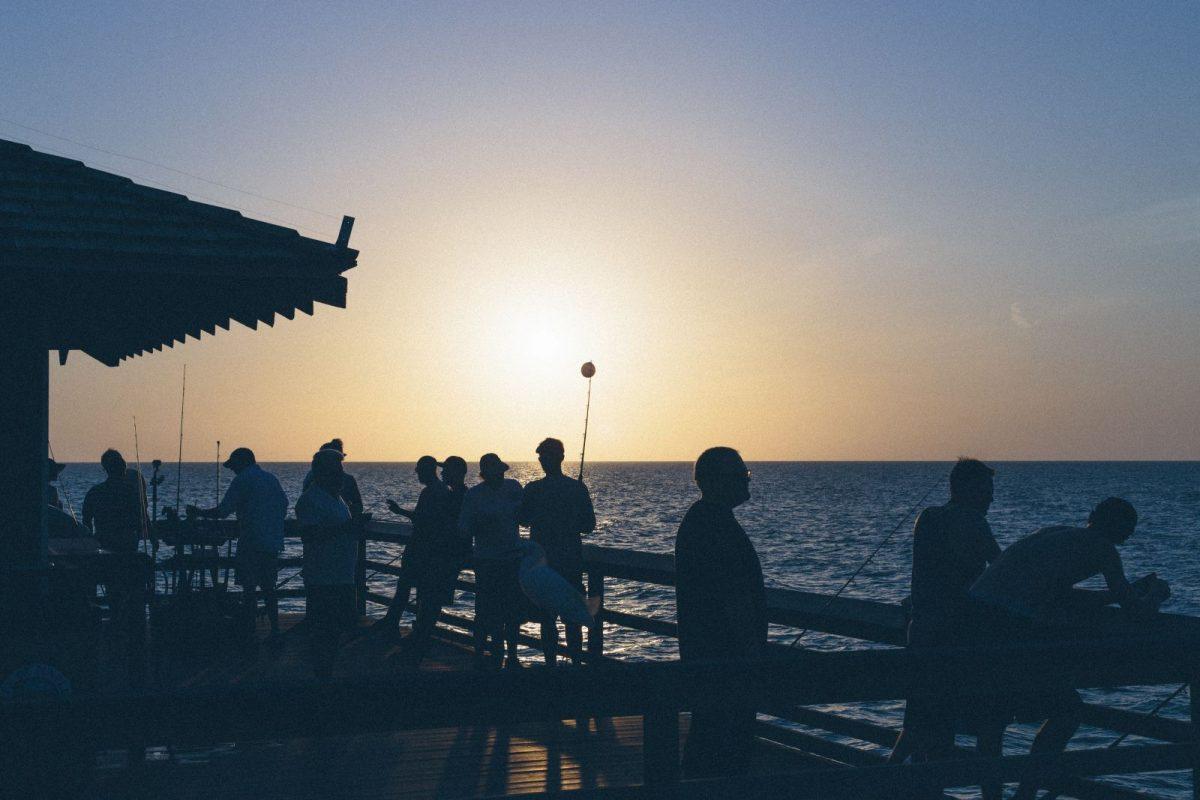 Fishing on the ocean pier