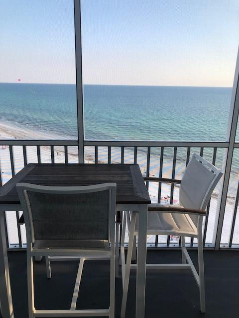 view of the beach from condo