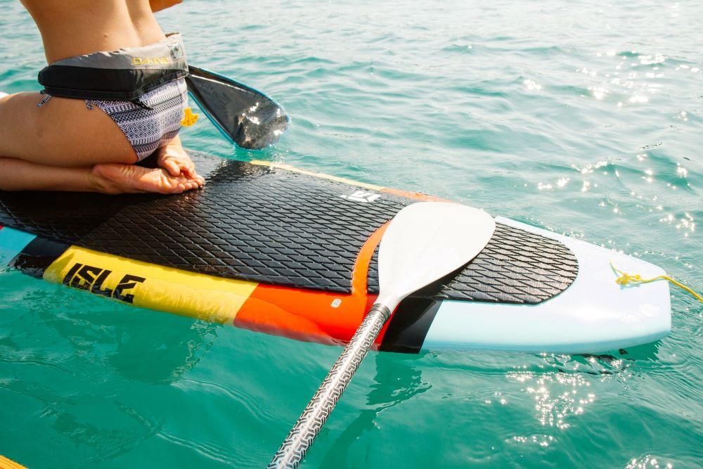 woman on paddleboard on Siesta Key water